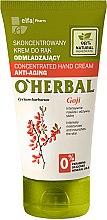 Düfte, Parfümerie und Kosmetik Anti-Aging Handcreme mit Goji Beeren-Extrakt - O'Herbal Concentrated Anti-Aging Hand Cream With Goji Extract