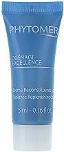 Düfte, Parfümerie und Kosmetik Pflegende, schützende, stärkende und aufhellende Gesichtscreme mit Meerescalcium und mit Omega-3-Fettsäuren - Phytomer OgenAge Exellence Radiance Replenishing Cream (Probe)