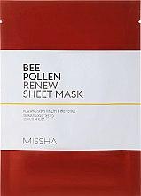 Düfte, Parfümerie und Kosmetik Regenerierende Tuchmaske mit Bienenpolen - Missha Bee Pollen Renew Sheet Mask