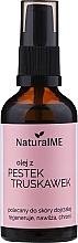 Düfte, Parfümerie und Kosmetik Regenerierendes feuchtigkeitsspendendes und schützendes Erdbeersamenöl für reife Haut - NaturalME (mit Pumpenspender)