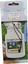 Düfte, Parfümerie und Kosmetik Papier-Lufterfrischer Clean Cotton - Yankee Candle Car Jar Clean Cotton