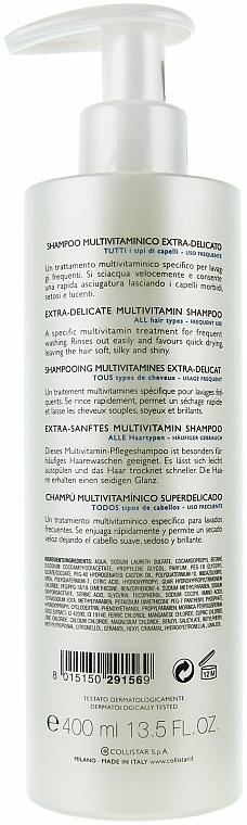 Extra-sanftes Multivitamin Shampoo für häufigen Gebrauch - Collistar Extra-Delicate Micellar Shampoo — Bild N6