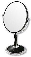 Düfte, Parfümerie und Kosmetik Doppelseitiger Kosmetikspiegel mit Ständer 85659 schwarz - Top Choice