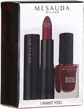 Makeup Set - Mesauda I Want You (Lippenstift 3.5g + Nagellack 10ml) — Bild N1
