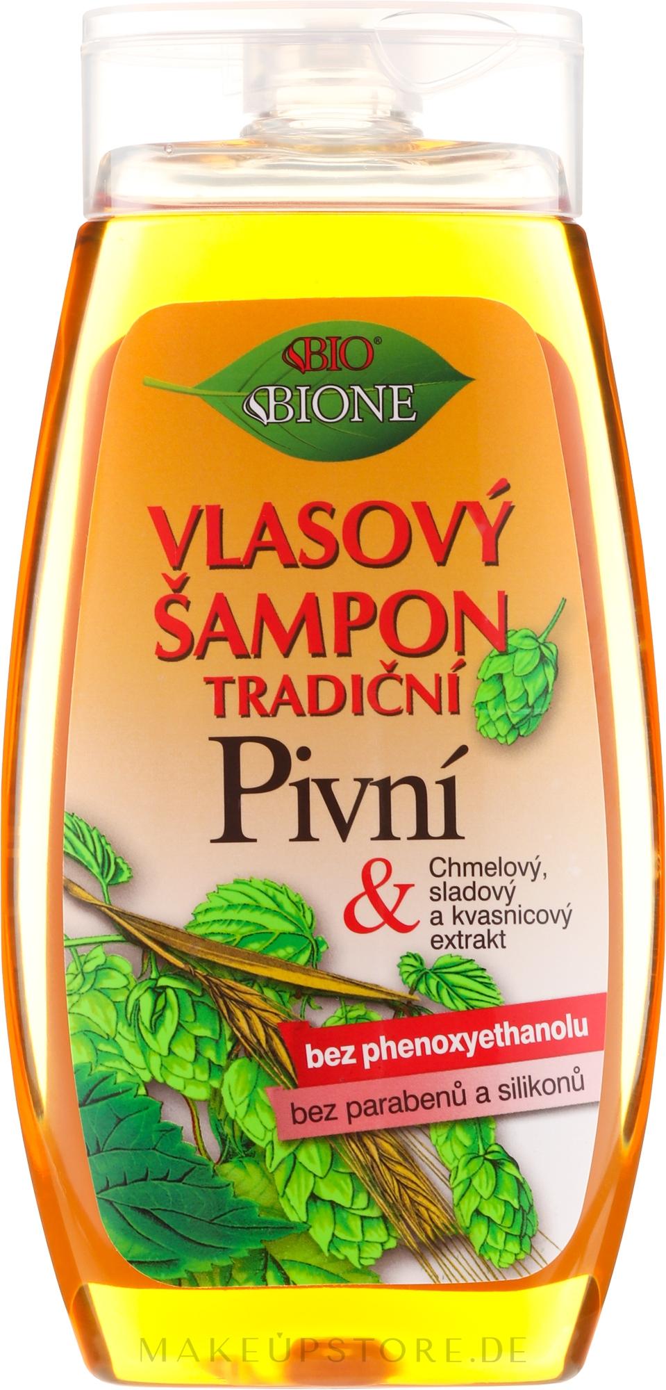 Shampoo mit Bierhefe - Bione Cosmetics Traditional Beer Hair Shampoo — Bild 260 ml