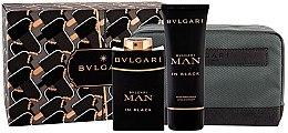 Düfte, Parfümerie und Kosmetik Bvlgari Man In Black - Duftset (Eau de Toilette/100ml + After Shave Balsam/100ml + Kosmetiktasche)