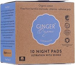 Düfte, Parfümerie und Kosmetik Damenbinden mit Flügeln für die Nacht 10 St. - Ginger Organic