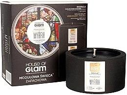 Düfte, Parfümerie und Kosmetik Soja-Duftkerze Frankincense Myrrh - House of Glam Raw Black Collection Frankincense Myrrh Candle