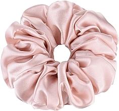 Düfte, Parfümerie und Kosmetik Scrunchie-Haargummi aus Naturseide in Puderfarbe Largy - Makeup Largy Scrunchie Powder