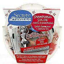 Düfte, Parfümerie und Kosmetik Pflegeset für trockenes Haar - Secrets De Provence Natural Red Clay (Festes Shampoo 85g + Box)