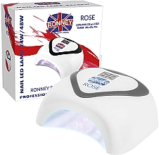 Düfte, Parfümerie und Kosmetik LED Lampe für Nageldesign silber - Ronney Profesional Rose LED 24W/48W (GY-LED-035) Lamp