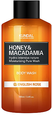 Duschgel mit englischer Rose - Kundal Honey & Macadamia Body Wash English Rose — Bild N1