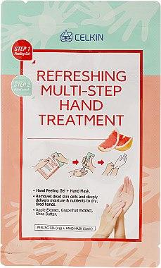 Efrischende 2-Schritt-Handpflege mit Apfel- und Grapefruitextrakt und Sheabutter - Celkin Refreshing Multi Step Hand Treatment — Bild N1