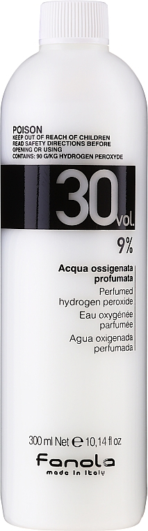 Entwicklerlotion 9% - Fanola Acqua Ossigenata Perfumed Hydrogen Peroxide Hair Oxidant 30vol 9%