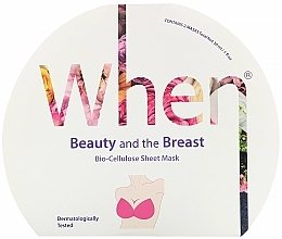 Düfte, Parfümerie und Kosmetik Straffende Biocellulose-Tuchmaske für die Brust - When Beauty And The Breast Bio-Cellulose Mask