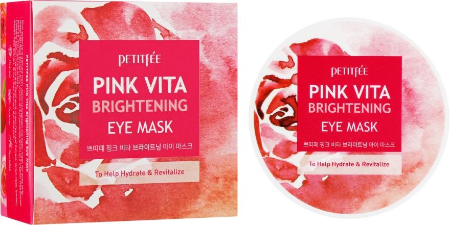 Aufhellende und feuchtigkeitsspendende Augenpatches - Petitfee&Koelf Pink Vita Brightening Eye Mask — Bild N1