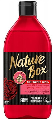 Duschgel mit Granatapfel-Öl - Nature Box Pomegranate Oil Shover Gel — Bild N1