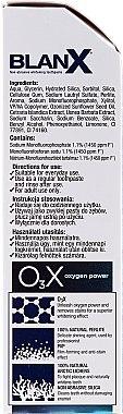 Aufhellende Zahnpasta - BlanX O3X Oxygen Power Pro Shine Whitening Toothpaste — Bild N2