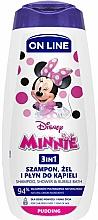 Düfte, Parfümerie und Kosmetik 3in1 Shampoo, Dusch- und Badeschaum mit Pudding-Aroma - On Line Kids Disney Minnie