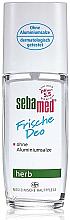 Düfte, Parfümerie und Kosmetik Deospray mit Kräutern - Sebamed Frische Deo Herb Deodorant Spray