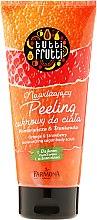 Düfte, Parfümerie und Kosmetik Zucker-Körperpeeling mit Orange und Erdbeere - Farmona Tutti Frutti Sugar Body Scrub Orange & Strawberry
