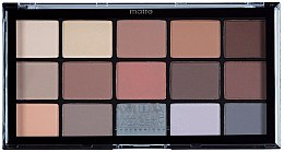 Düfte, Parfümerie und Kosmetik Lidschattenpalette - MUA Pro 15 Shade Eyeshadow Palette Matte