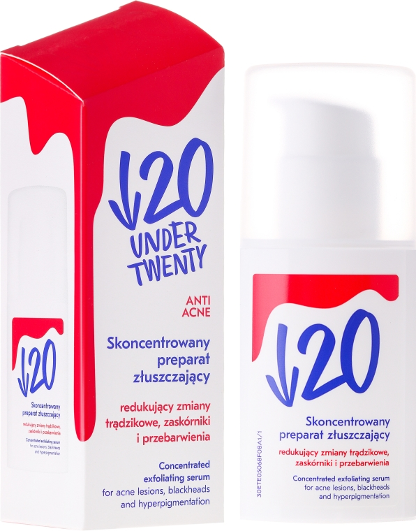 Anti-Akne Peelingserum für das Gesicht - Under Twenty Anti Acne Concentrated Exfoliating Serum — Bild N1