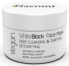 Düfte, Parfümerie und Kosmetik Tiefenreinigende entgiftende Gesichtsmaske mit Aktivkohle - Nacomi White & Black Face Mask