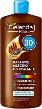 Düfte, Parfümerie und Kosmetik Sonnenschutzlotion mit Kakao SPF 30 - Bielenda Bikini Cocoa Suntan Milk High Protection