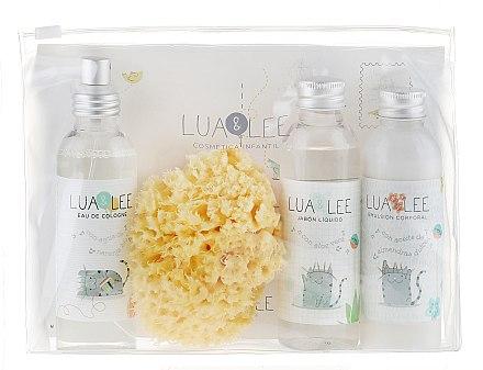 Lua&Lee Eau de Cologne Kids - Kinderset (Eau de Cologne 250ml + Emulsion 250ml + Flussigseife 50ml + Badeschwamm) — Bild N1