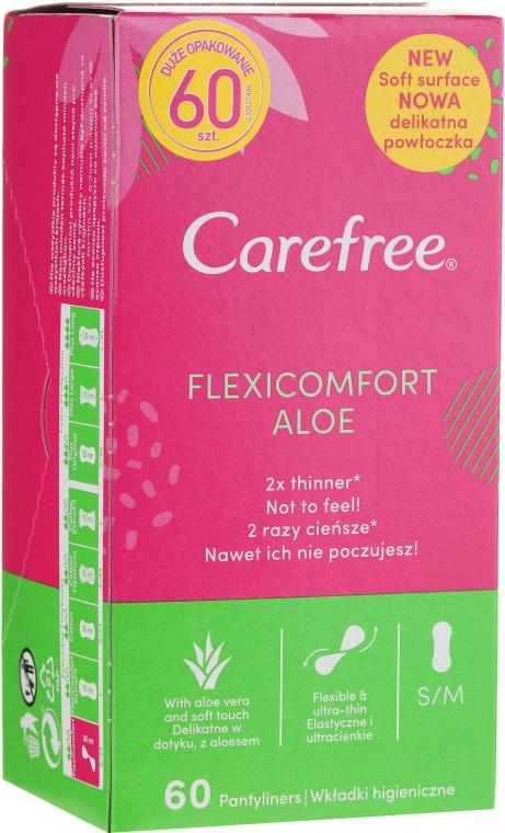 Slipeinlagen mit Aloe Vera-Extrakt 60 St. - Carefree Flexi Comfort Aloe Extract — Bild N1