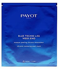 Düfte, Parfümerie und Kosmetik Glättendes Tuchmaske-Peeling mit Glykolsäure und blauem Mönchspfeffer - Payot Blue Techni Liss Week-End