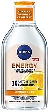 Düfte, Parfümerie und Kosmetik Mizellen-Reinigungswasser mit Vitaminen für empfindliche Haut - Nivea Energy Vitamin C + Vitamin B3 + Cranberry