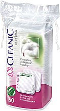 Düfte, Parfümerie und Kosmetik Kosmetische Wattepads Pure Effect 50 St. - Cleanic Face Care Cotton Pads