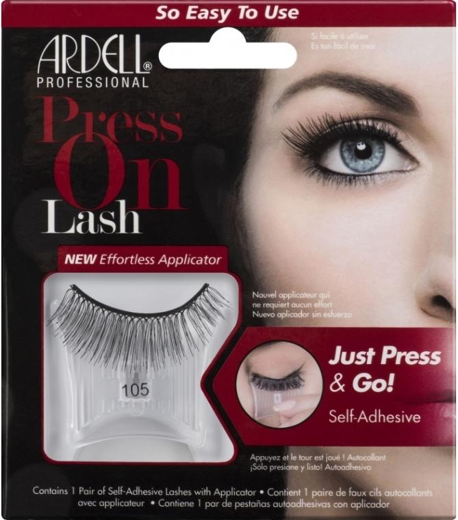 Künstliche Wimpern 105 - Ardell Press On Lash 105 Black — Bild N1