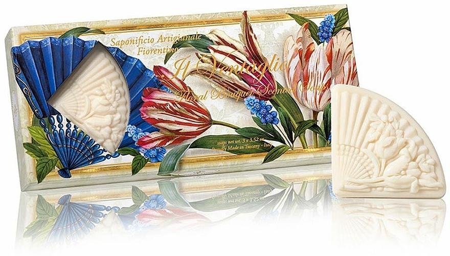 Naturseifen-Set Blumenstrauß - Saponificio Artigianale Fiorentino Floral Bouquet Soap (Seife 3x100g)  — Bild N1