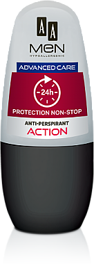 Deo Roll-on Antitranspirant Action - AA Men Protection Advance Care Non-Stop 24h Anti-Perspirant Action — Bild N1