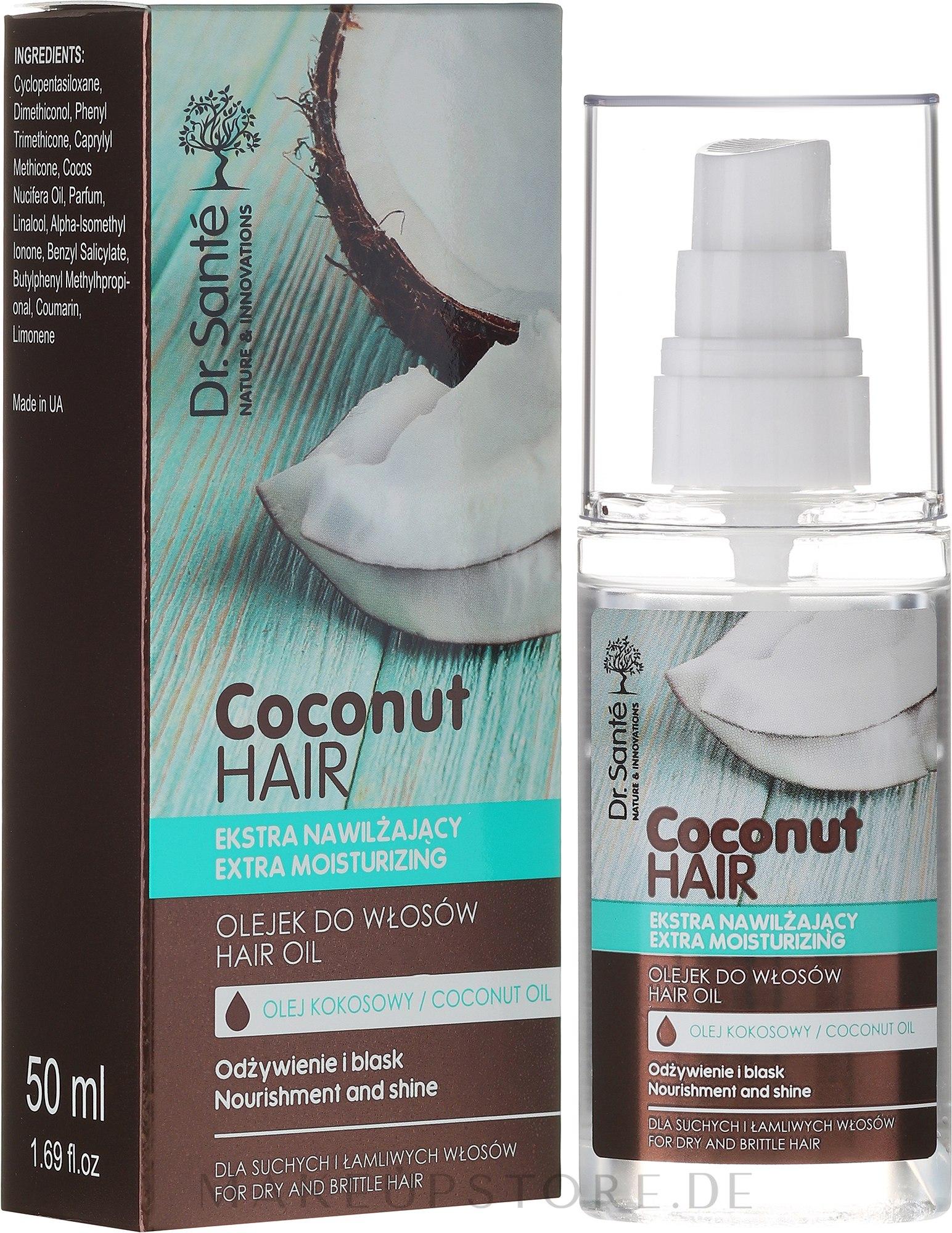 Feuchtigkeitsspendendes Haaröl mit Kokosnuss - Dr. Sante Coconut Hair — Bild 50 ml