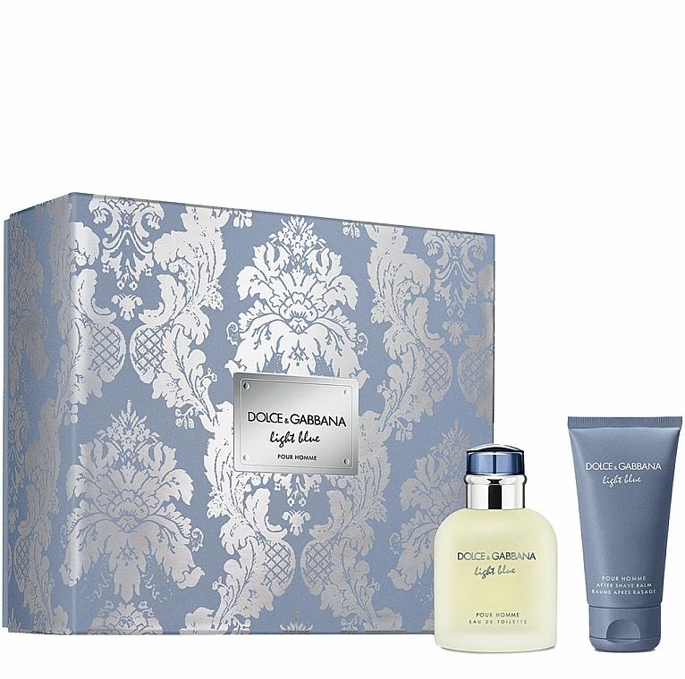 Dolce&Gabbana Light Blue Pour Homme - Duftset (Eau de Toilette 75ml + After Shave Balsam 50ml)