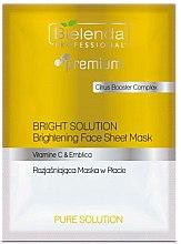 Düfte, Parfümerie und Kosmetik Aufhellende Tuchmaske für das Gesicht - Bielenda Professional Premium Pure Solution Brightening Sheet Face Mask