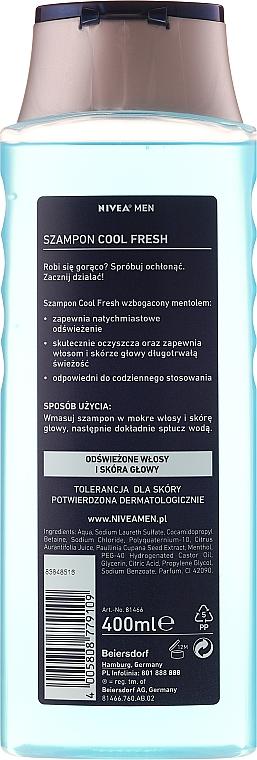 Vitalisierendes und erfrischendes Shampoo - Nivea For Men Cool Fresh Mentol Shampoo — Bild N2