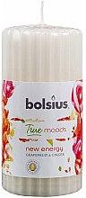 Düfte, Parfümerie und Kosmetik Duft-Stumpenkerze Grapefruit & Ginger geriffelt - Bolsius True Moods Collection New Energy Candle 120 mm x Ø58 mm