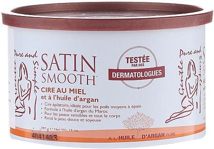 Enthaarungswachs mit Honig und Arganöl - Satin Smooth Honey Wax With Argan Oil — Bild N1
