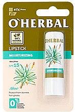 Düfte, Parfümerie und Kosmetik Feuchtigkeitsspendender Lippenbalsam mit Aloe Vera - O'Herbal Moisturizing Lipstick With Aloe Vera extract SPF15