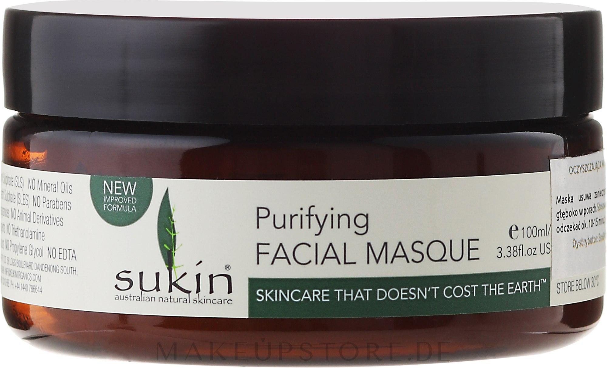 Gesichtsmaske - Sukin Purifying Facial Masque — Bild 100 ml