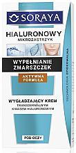 Düfte, Parfümerie und Kosmetik Anti-Falten Augencreme mit Hyaluronsäure - Soraya Hialuronowy Mikrozastrzyk Stretching Eye Cream
