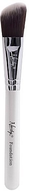 Foundationpinsel MC-F-01 - Nanshy Foundation Brush Pearlescent White — Bild N1