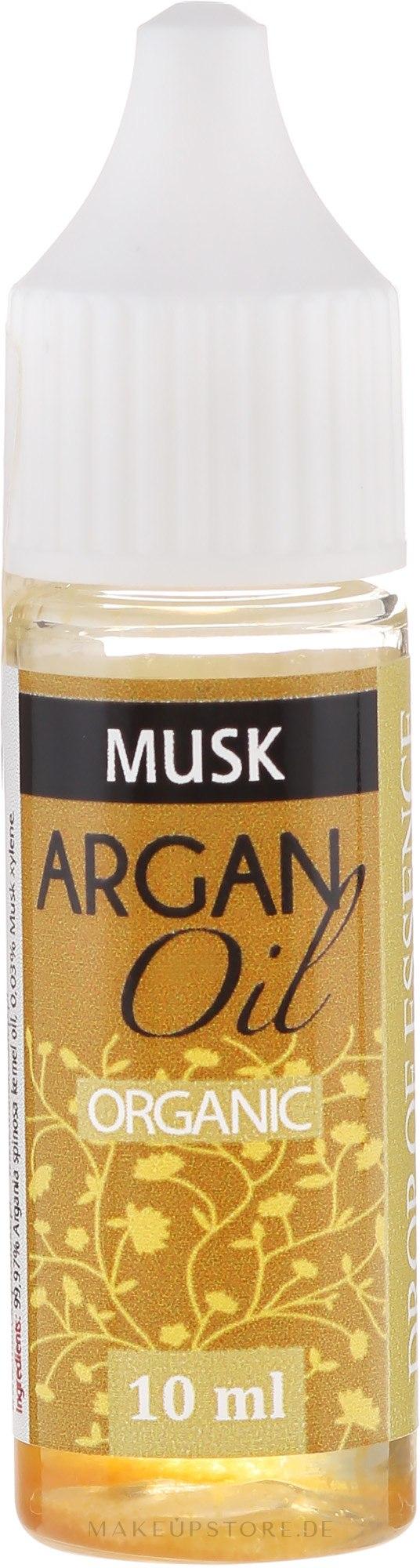 Beruhigendes duftendes und aufweichendes Arganöl mit Moschus - Drop of Essence Argan Oil Musk — Bild 10 ml