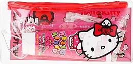 Düfte, Parfümerie und Kosmetik Zahnpflegeset für Kinder - VitalCare Hello Kitty Dental Travel Kit (Zahnbürste + Zahnpasta 75 ml + Pflaster 10 St.)
