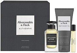 Düfte, Parfümerie und Kosmetik Abercrombie & Fitch Authentic Men - Duftset (Eau de Toilette 100ml + Eau de Toilette Mini 15ml + Duschgel 200ml)